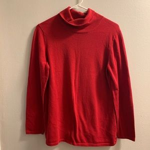 J. Jill long sleeve red cotton turtleneck medium
